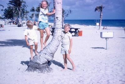Mark (left) during his 'formative years,'  Ft. Lauderdale, Florida